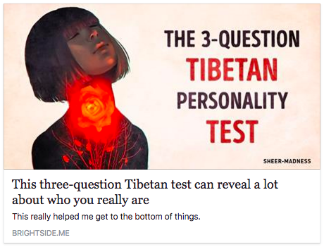 3-question tibetan personality test