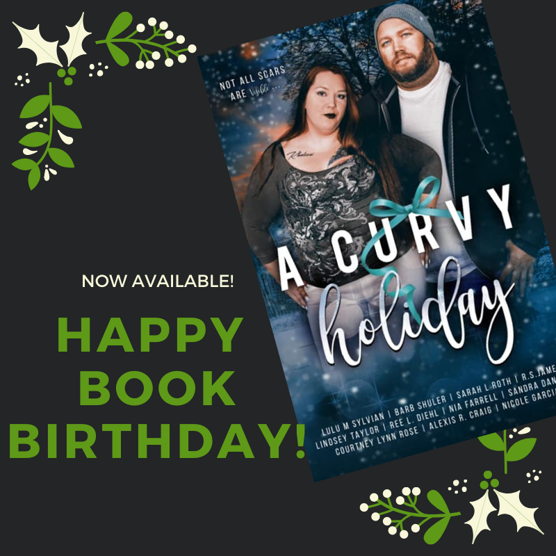Curvy holiday book birthday